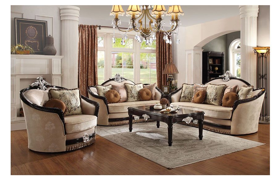 Beau Ernestine Tan Sofa Set