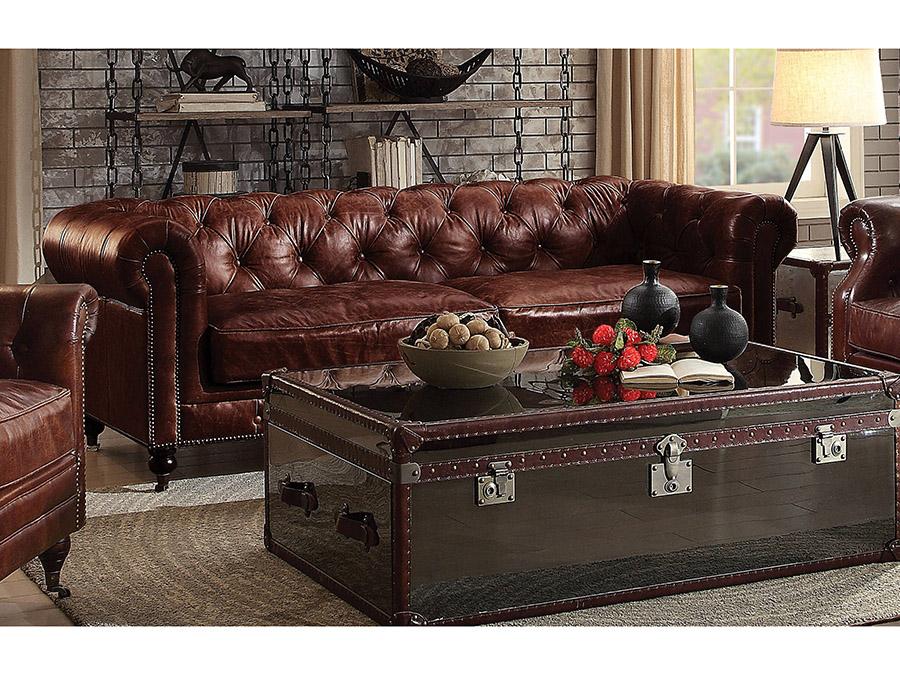Aberdeen Vintage Dark Brown Sofa