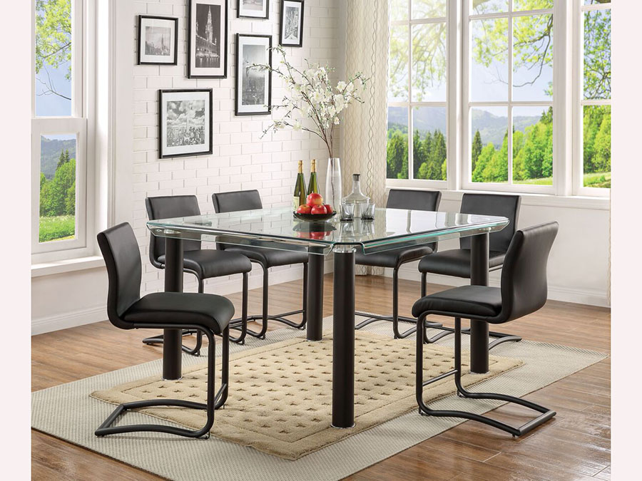 Gordie Black Counter Height Dining Set