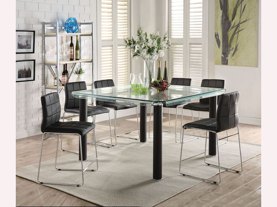 Gordie Black Counter Height Dining Set