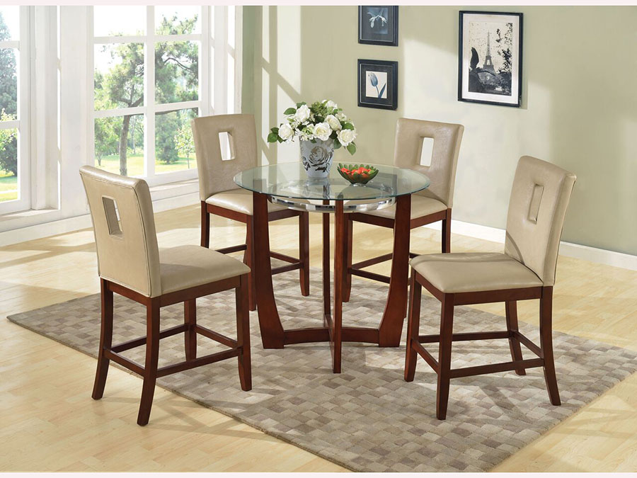 36 Round Glass Dining Table Set