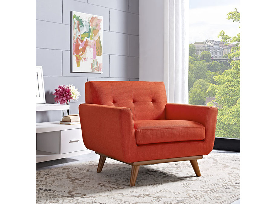 Engage Upholstered Chair In Atomic Red