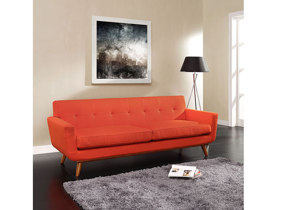 Engage Upholstered Sofa in Atomic Red - Shop for Affordable Home ...