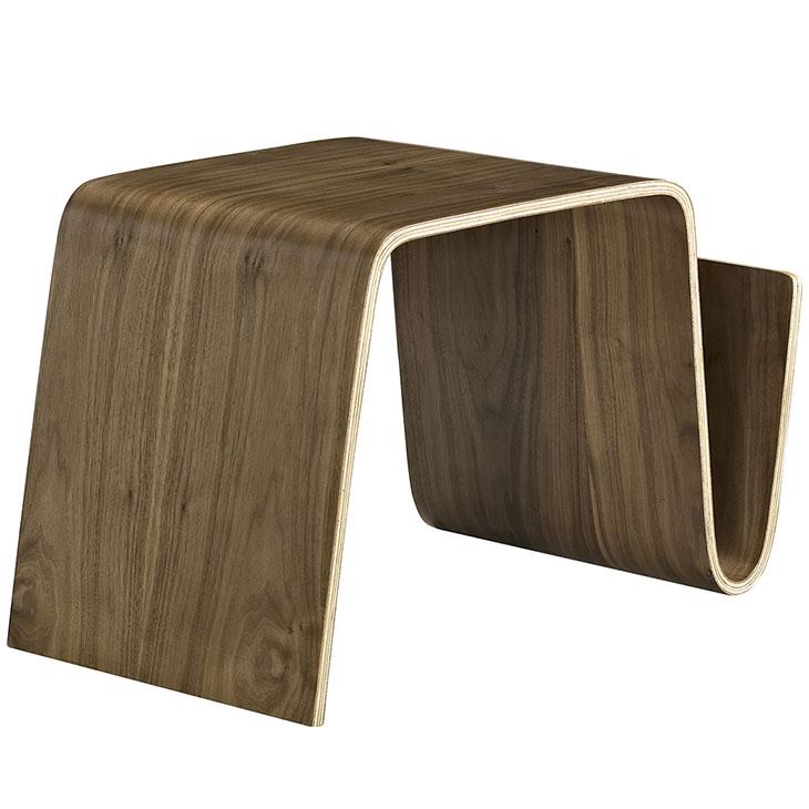Fabulous Polaris Wood Side Table In Walnut Machost Co Dining Chair Design Ideas Machostcouk