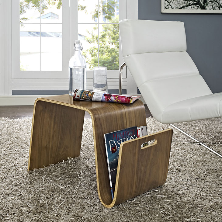 Pleasing Polaris Wood Side Table In Walnut Machost Co Dining Chair Design Ideas Machostcouk