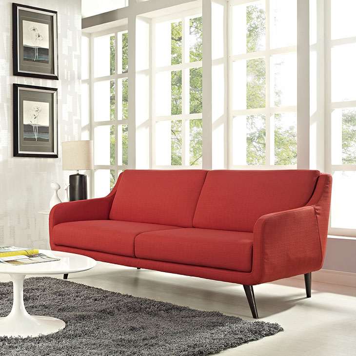 Verve Upholstered Sofa in Atomic Red - Shop for Affordable Home ...
