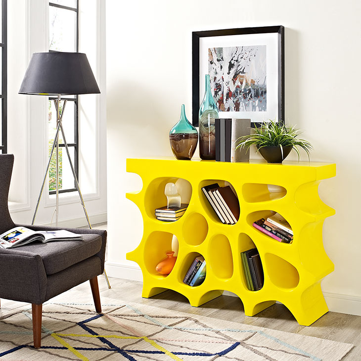 Wander Console Table In Yellow