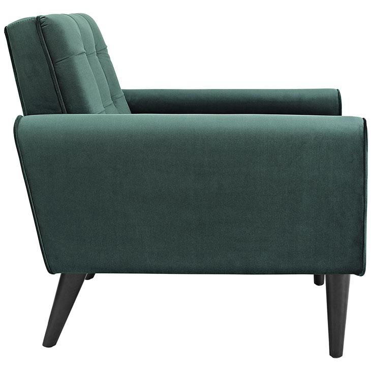 Delicieux Delve Velvet Armchair In Emerald Green