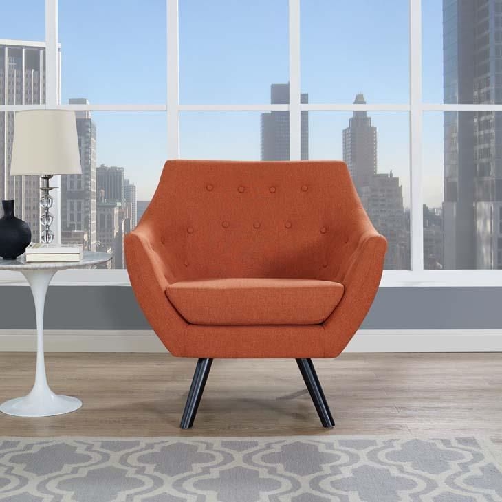 Allegory Armchair In Orange