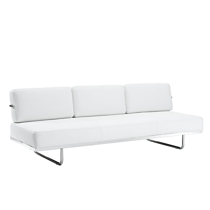 Charles Convertible Leather Sofa in White - Shop for Affordable Home ...