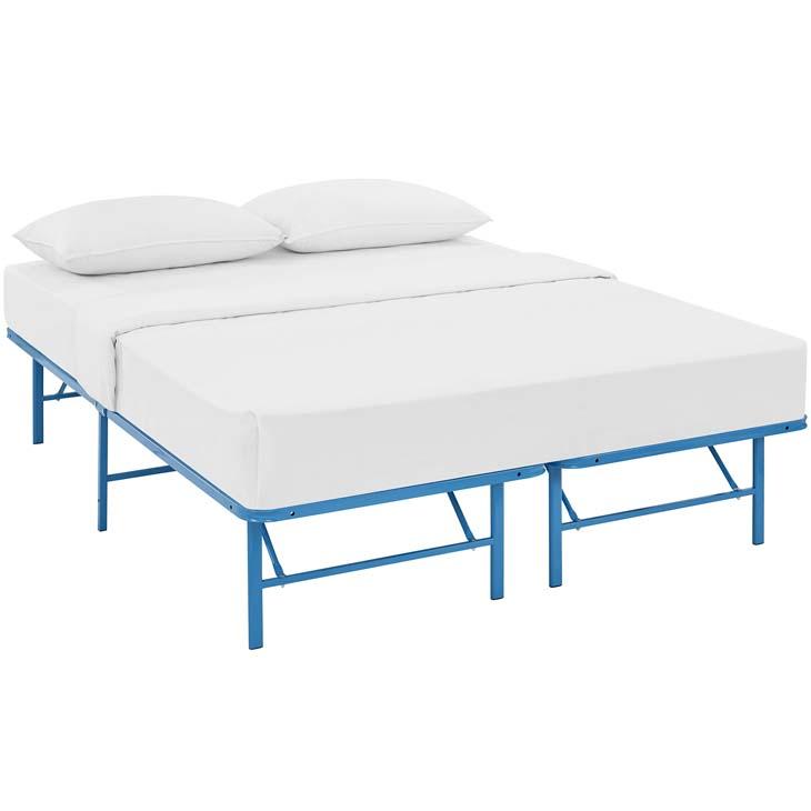 Horizon Stainless Steel Full Metal Bed Frame in Light Blue - Shop ...
