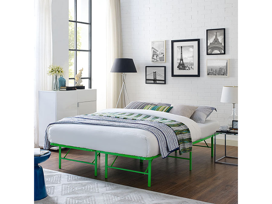 Horizon Queen Stainless Steel Bed Frame In Green - Shop for ...