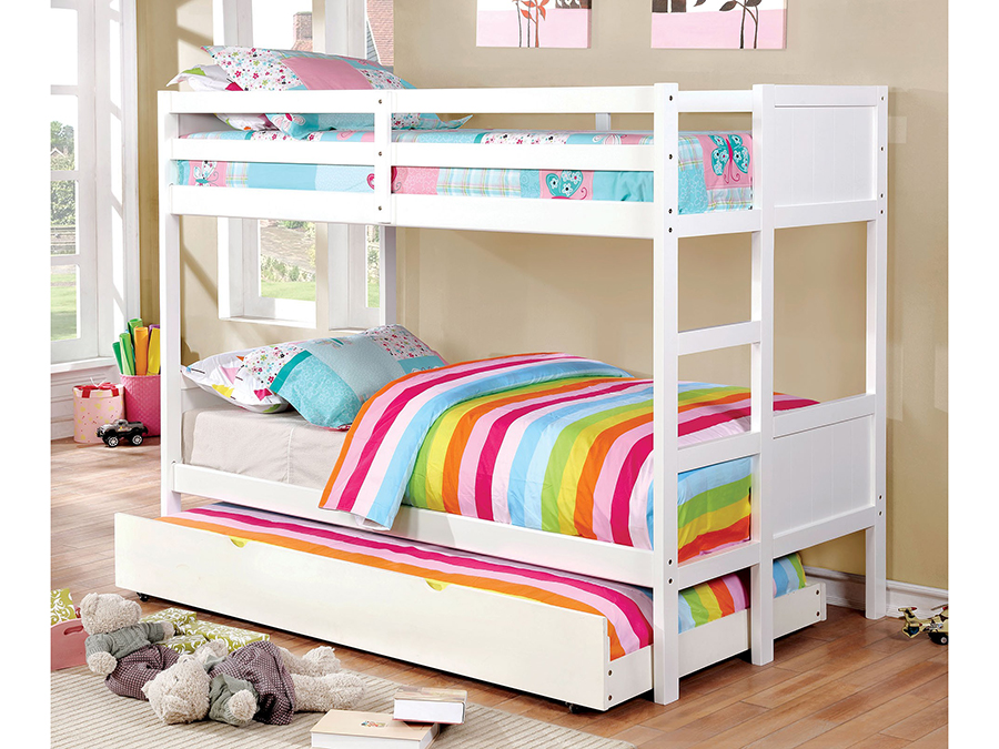 Annette Twin Twin Bunk Bed With Trundle - Shop for Affordable Home ...