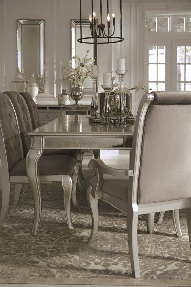 Superieur Birlanny Silver Dining Table Set