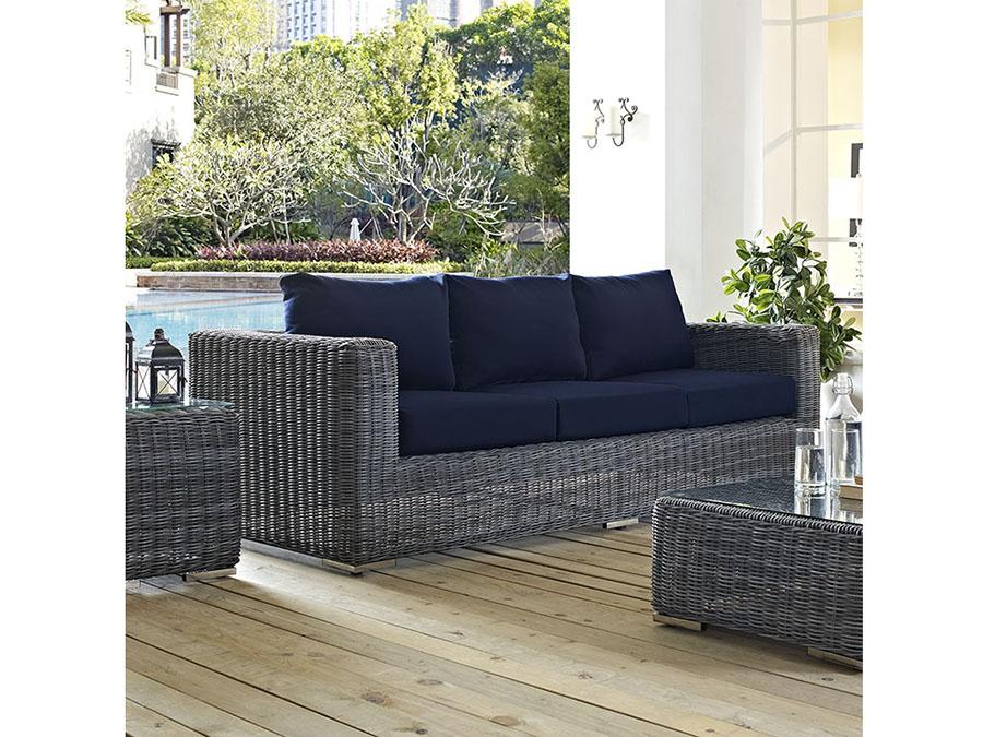 Summon Outdoor Patio Sunbrella 174 Sofa In Canvas Navy Shop