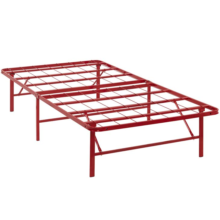 Horizon Twin Stainless Steel Bed Frame In Red - Shop for Affordable ...