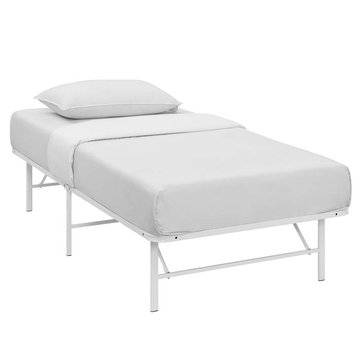 Horizon Twin Stainless Steel Bed Frame In White - Shop for ...