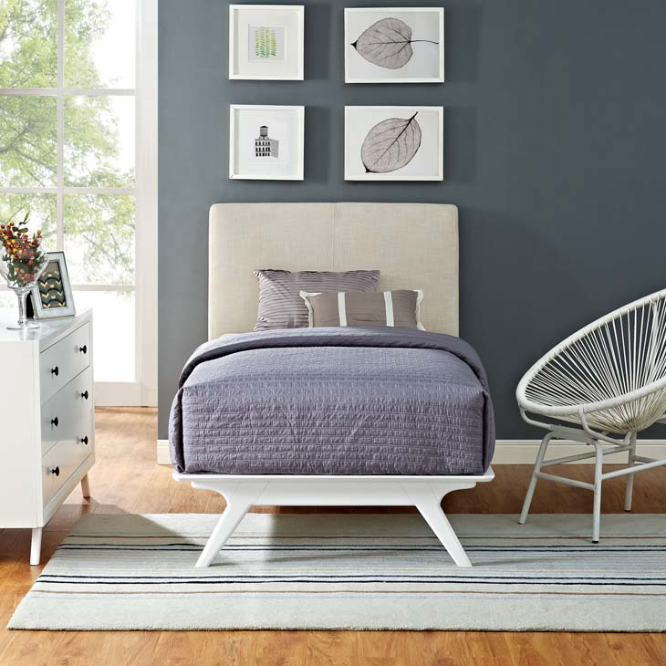 Tracy Twin Bed In White Beige Shop For Affordable Home Furniture Decor Outdoors And More