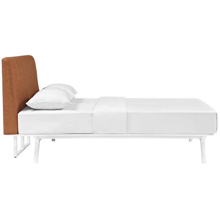 Tracy King Bed In White Orange Shop For Affordable Home Furniture Decor Outdoors And More