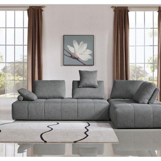 Albion Grey Fabric Modular Sectional Sofa