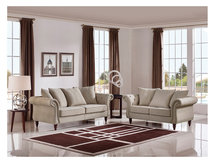 Beige fabric sofa set sofa menzilperde net for Affordable furniture montreal