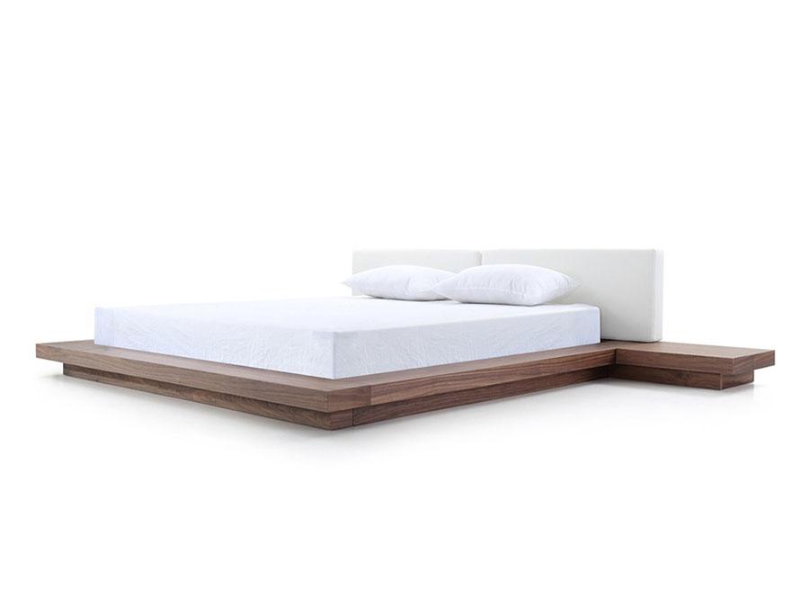 Walnut White Queen Platform Bed