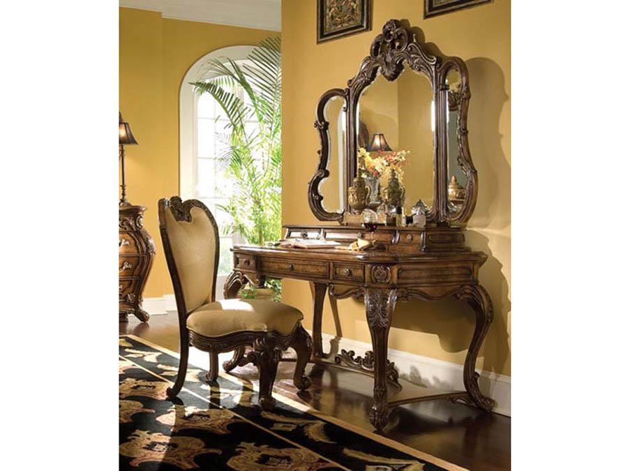 Rococo Cognac Vanity Desk Set