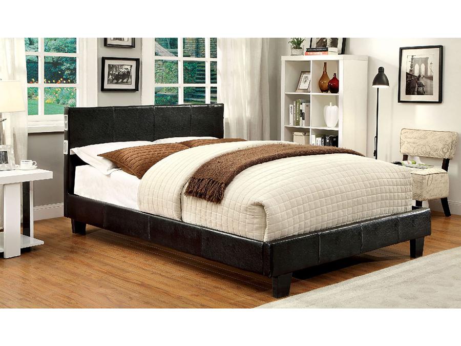 Evans Espresso Leatherette Twin Platform Bed : CM7099EX 3 from www.muuduufurniture.com size 900 x 675 jpeg 425kB