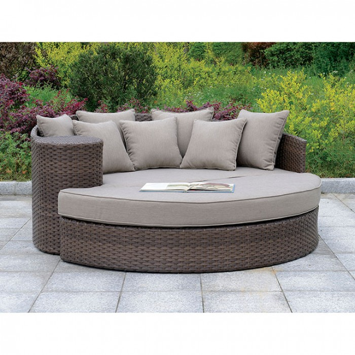Calio Round Patio Sofa And Ottoman Shop For Affordable