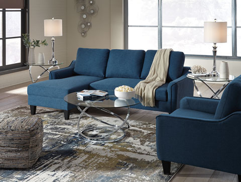 Jarreau Blue Queen Sofa Sleeper Set