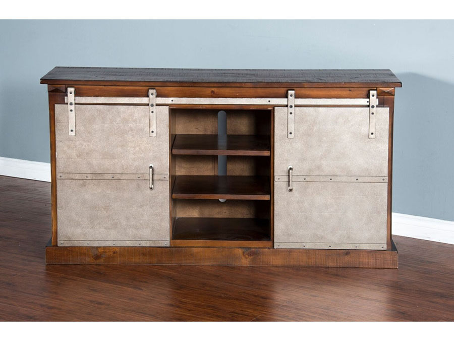 65 Tv Console W Barn Door Shop For Affordable Home Furniture
