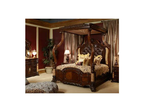 Light Espresso Cal.King Canopy Bed  sc 1 st  Muuduu Furniture & Light Espresso Cal.King Canopy Bed - Shop for Affordable Home ...