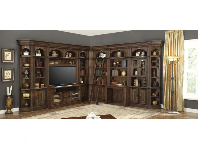Aria Entertainment Library Wall W Ladder Shop For
