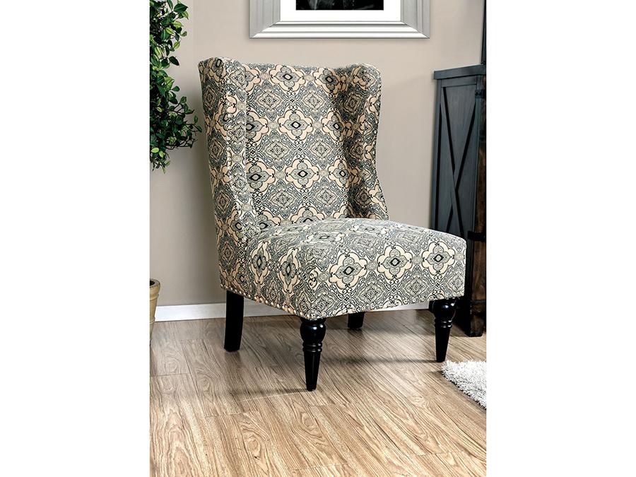 Elche Damask Pattern Accent Chair