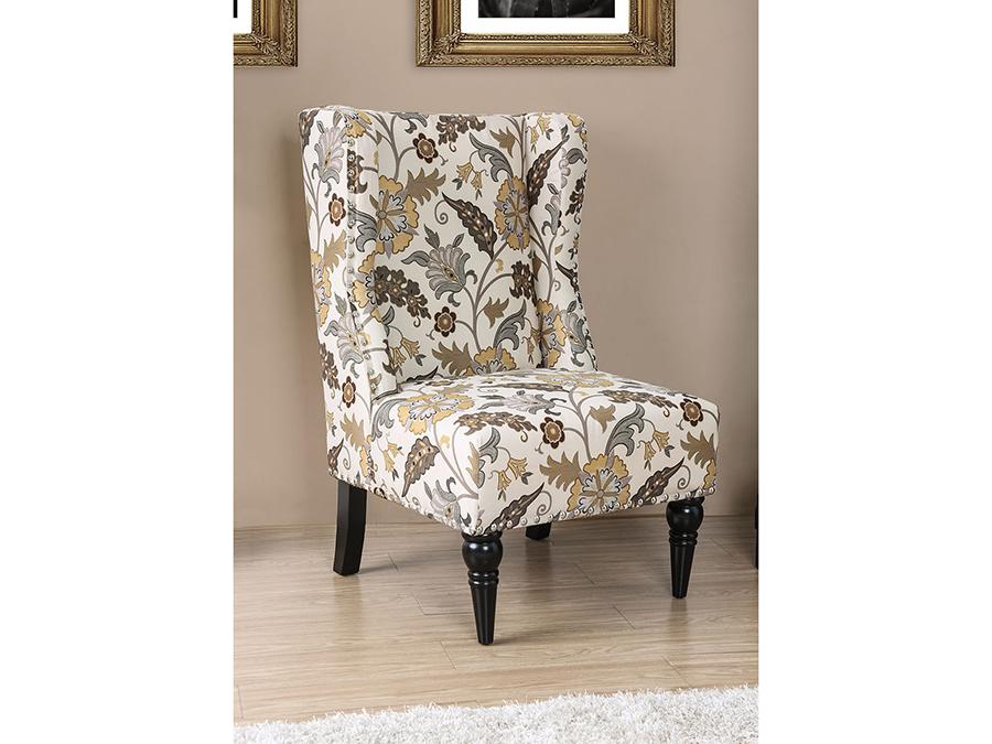 Superieur Elche Floral Pattern Accent Chair