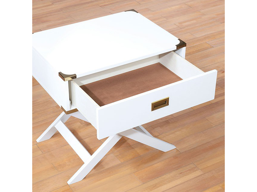 Goodyear White Side Table