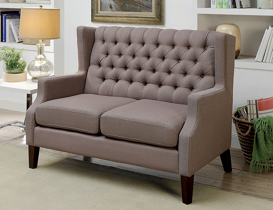 Miraculous Sybil Brown Love Seat Bench Pabps2019 Chair Design Images Pabps2019Com