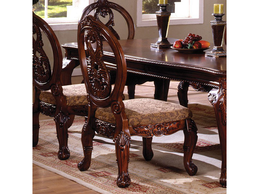 Tuscany Traditional Antique Cherry Dining Table Set
