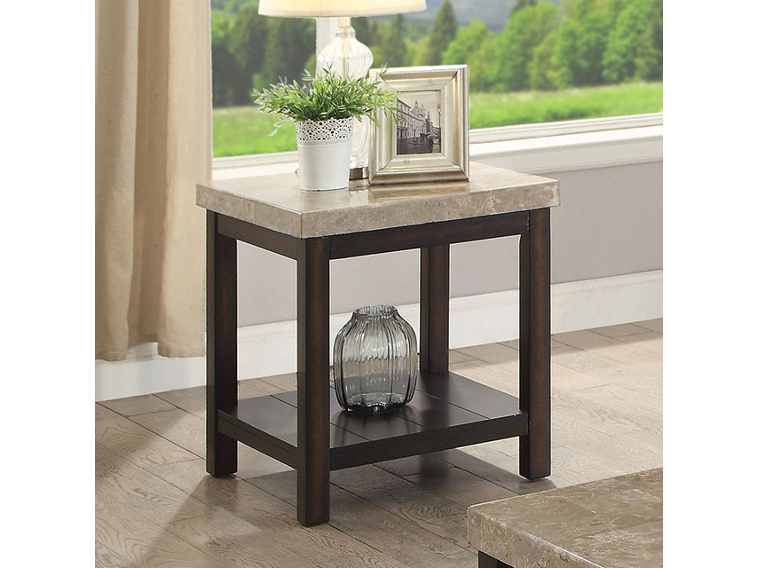Calgary dark walnut end table shop for affordable home for Affordable furniture calgary