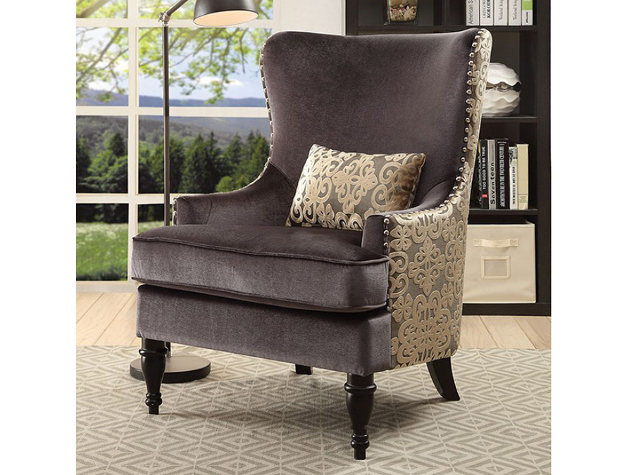 Sandra Dark Gray Accent Chair
