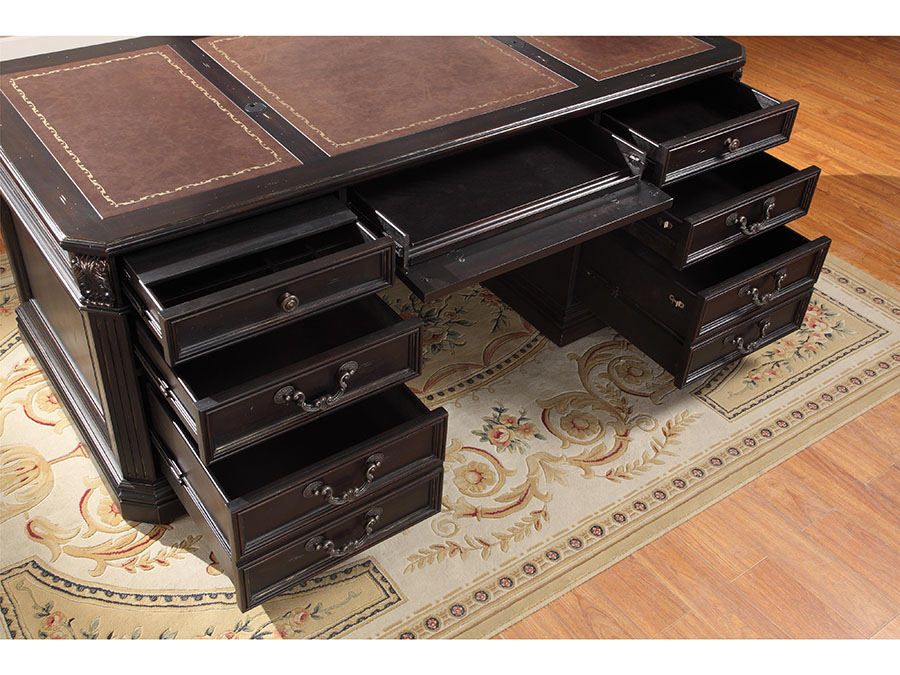 Grand Manor Palazzo Museum Library 3pcs Double Pedestal