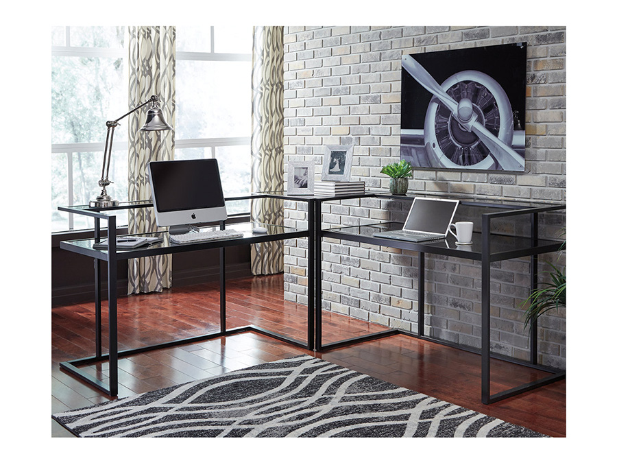 Attractive Laney Black Home Office Corner Desk