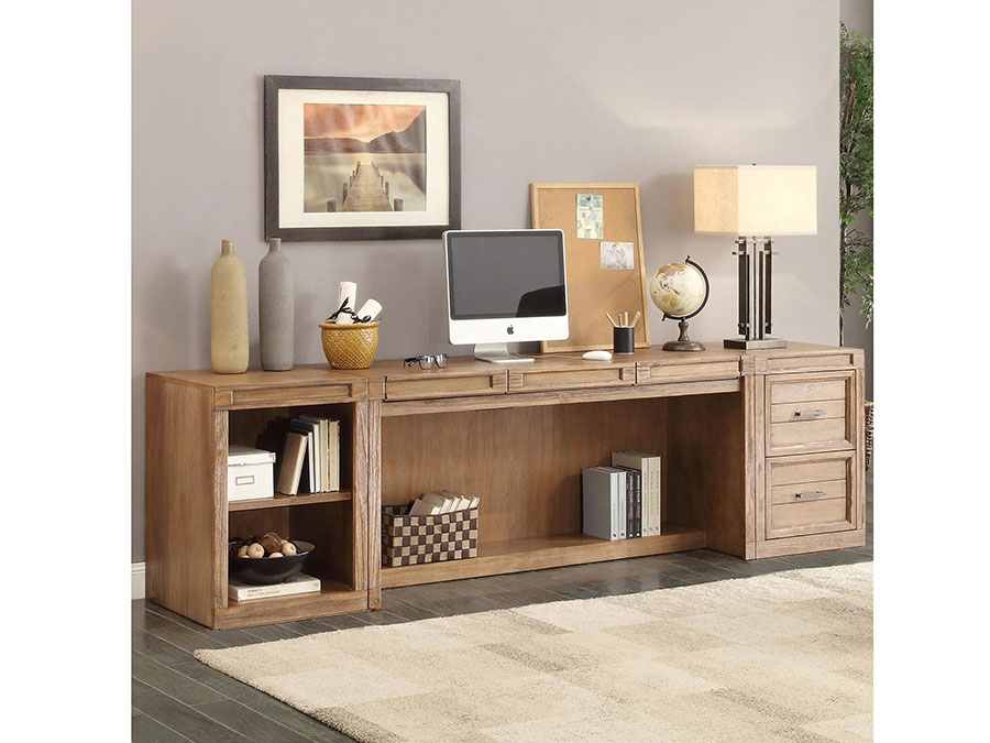 Hickory Creek 3pcs Desk With Printer Storage