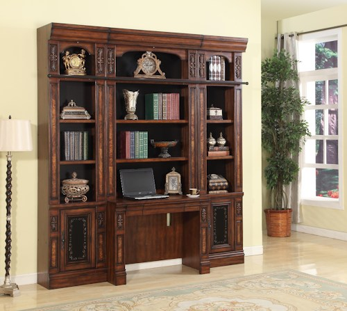 Leonardo 4pcs Library Desk And Open Bookcase Shop For
