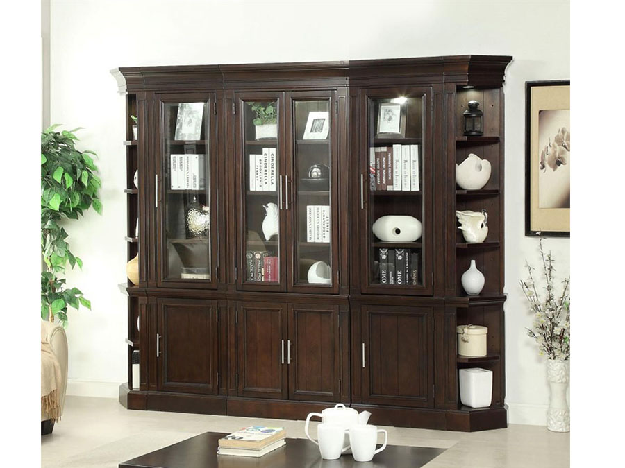 Stanford 5pcs 32 Glass Door Bookcase Library Wall Shop For