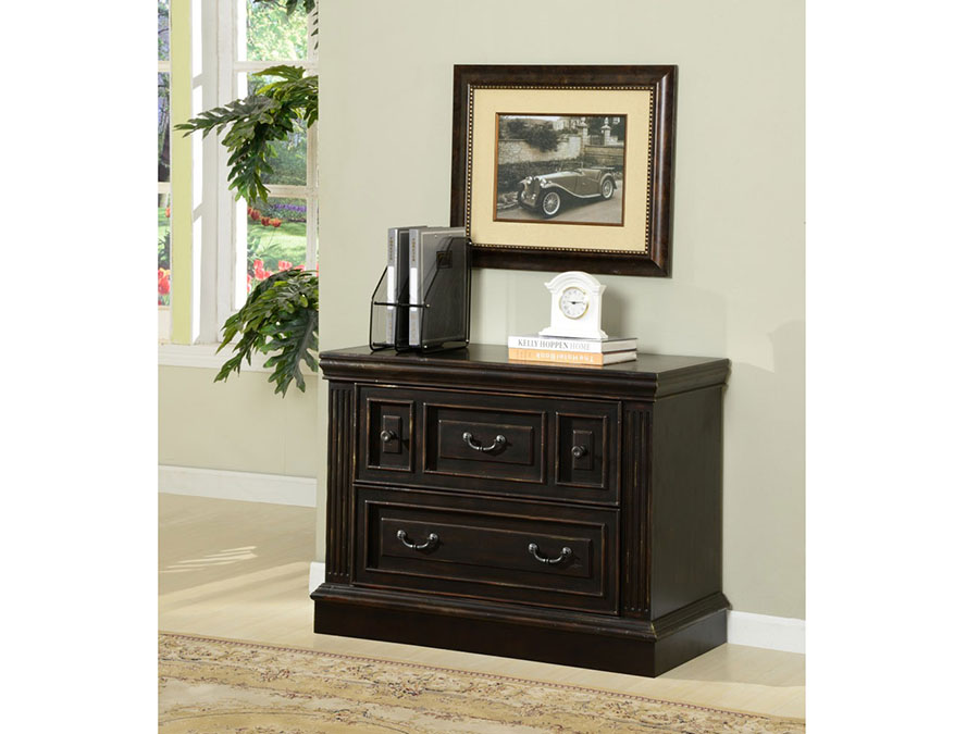 Venezia 2 Drawer Lateral File In Vintage Burnished Black