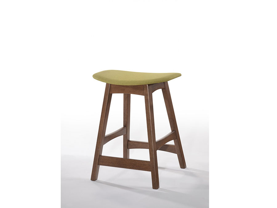 2pcs Yellow Amp Walnut Bar Stool Shop For Affordable Home