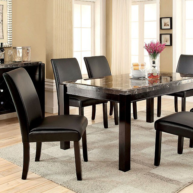 Gladstone I Contemporary Black Marble Top Dining Table