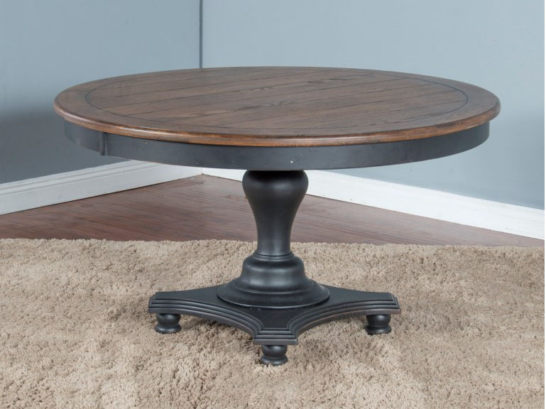 bourbon county round dining table w adjustable height shop for rh muuduufurniture com adjustable height kitchen work table