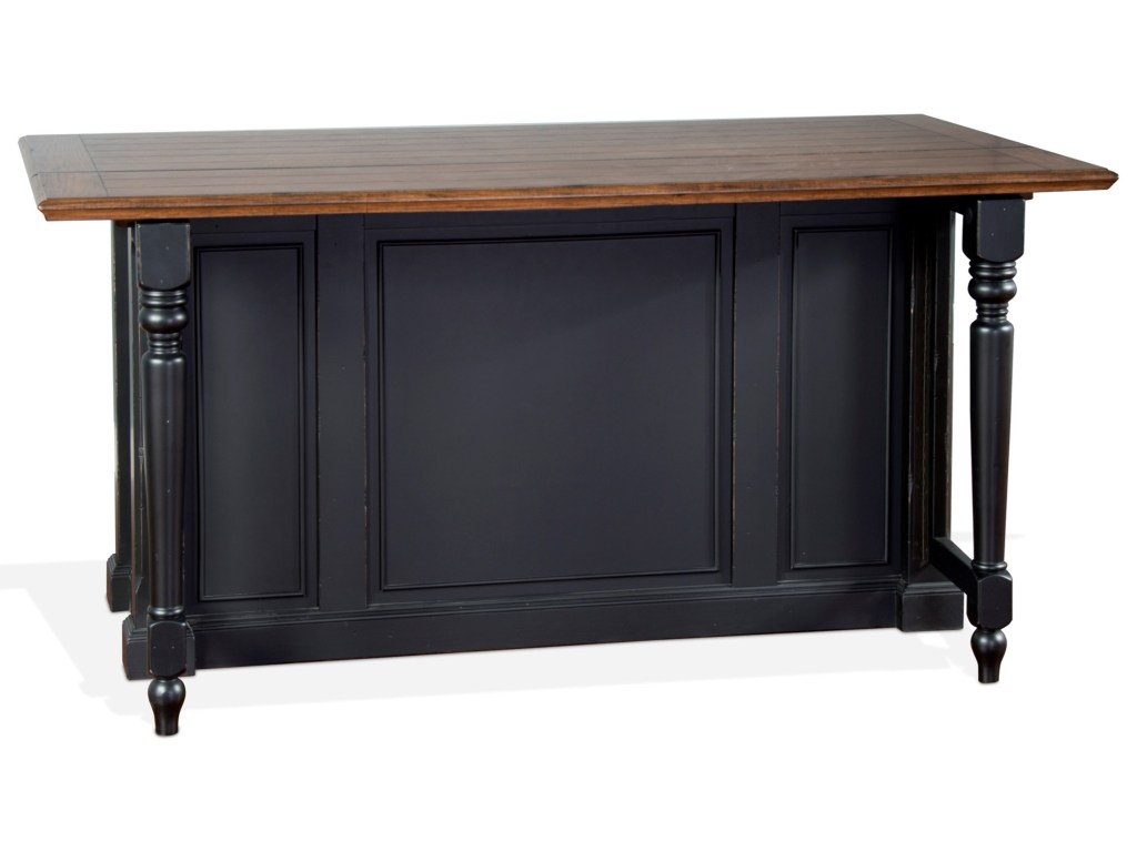 Bourbon country kitchen island w